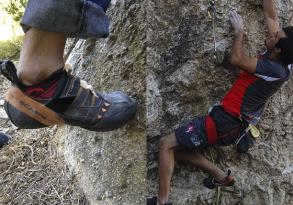 Climbing socks of Lurbel obtain high marks in the test of Enrique Gallardo, the Andalucian champion of Lead Climbing