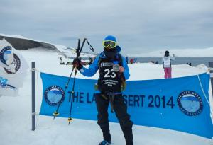 Bea García, second position in The Last Desert (Antarctica), with Lurbel socks